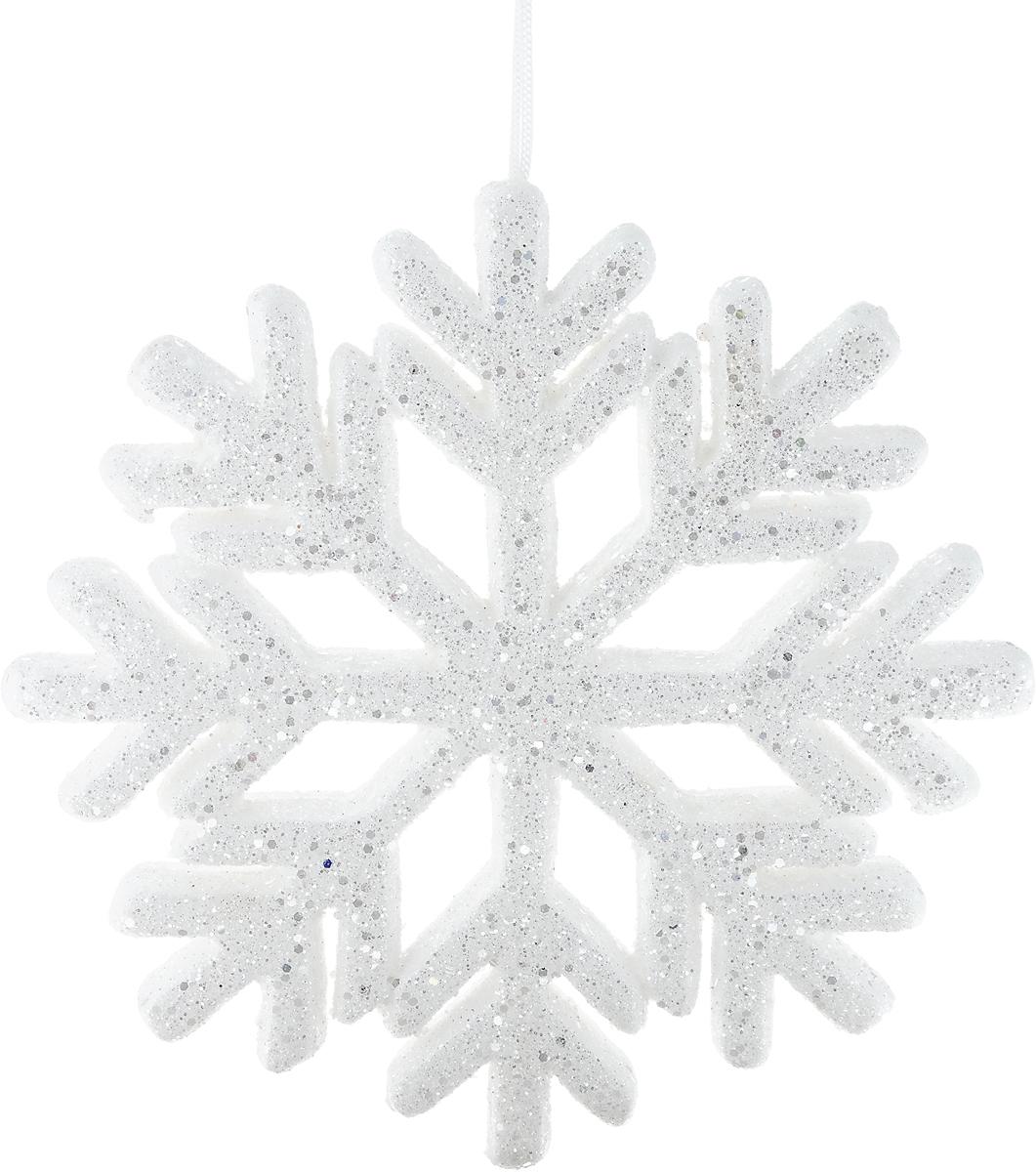 Украшение новогоднее подвесное Win Max Снежинка, диамтер 25 смJUM 14306Новогоднее подвесное украшение Win Max Снежинка прекрасно подойдет для праздничного декора новогодней ели. Изделие выполнено из пенопласта и украшено блестками. Для удобного размещения на елке для украшения предусмотрена петелька. Елочная игрушка - символ Нового года. Она несет в себе волшебство и красоту праздника. Создайте в своем доме атмосферу веселья и радости, украшая новогоднюю елку нарядными игрушками, которые будут из года в год накапливать теплоту воспоминаний.