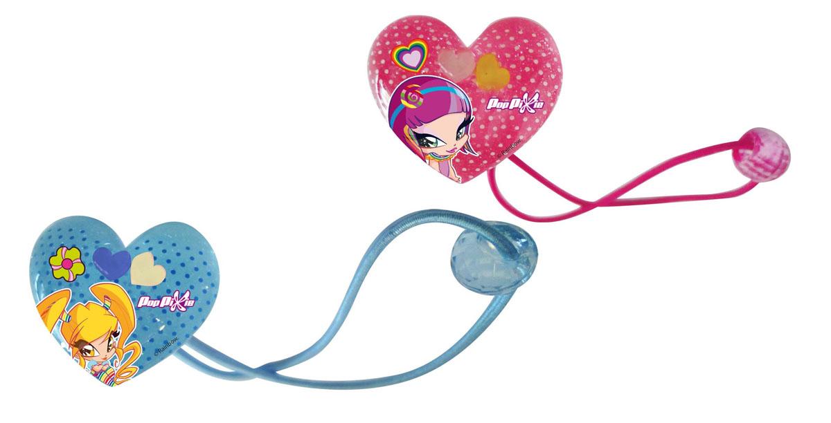 Резинка для волос PopPixie, цвет: розовый, голубой, 2 шт. 41319MP59.4DОригинальный аксессуар станет изюминкой образа юной леди. Изделие изготовлено из гипоаллергенных материалов, не имеет заостренных деталей и абсолютно безопасно для ребенка.