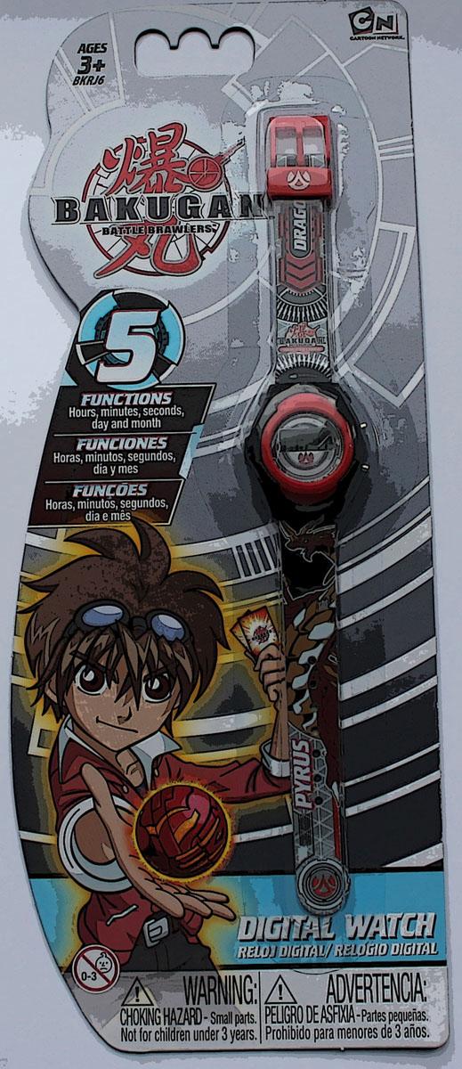 Часы наручные электронные Bakugan, цвет: серый. BKRJ6-2BM8434-58AEОригинальные электронные детские часы с корпусом и браслетом из пластика. Циферблат защищен от повреждений прочным пластиковым стеклом. Электронные часы имеют 5 функций: месяц – день, часы – минуты – секунды. Товар изготовлен полностью из пластмассы с питанием от химических источников тока, 1 сменный элемент включен в комплект (LR41 (AG3) 1.5 V). Рекомендуемый возраст: от 3 лет.