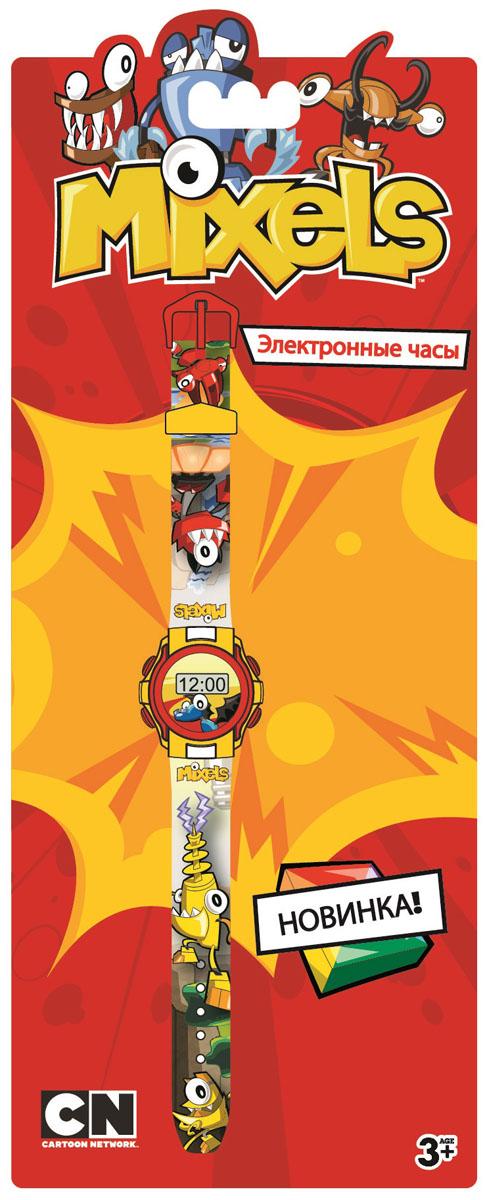 Часы наручные детские Mixels, цвет: серый. MX34564BGA-190BC-1BОригинальные электронные детские часы Mixels с корпусом и браслетом из пластика. Циферблат защищен от повреждений прочным пластиковым стеклом. Товар изготовлен полностью из пластмассы с питанием от химических источников тока, 1 сменный элемент включен в комплект (LR41 (AG3) 1.5 V).