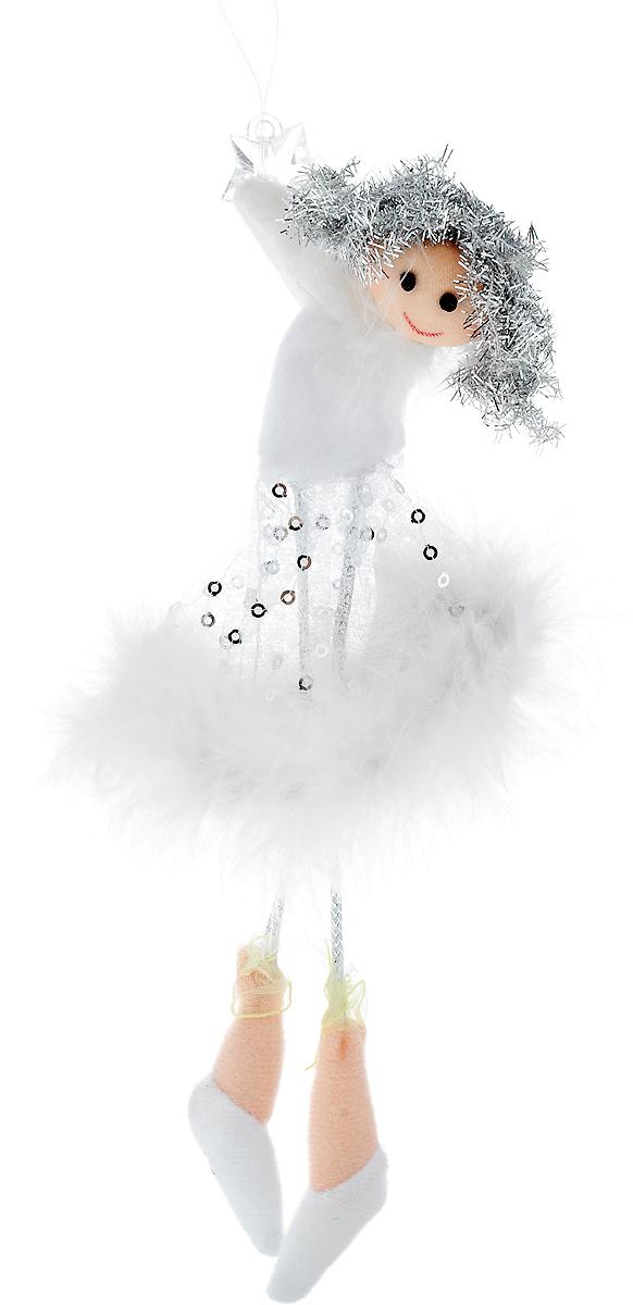 Украшение новогоднее подвесное Win Max Ангелочек, длина 20 см20112044Новогоднее подвесное украшение Win Max Ангелочек прекрасно подойдет для праздничного декора новогодней ели. Изделие выполнено из текстиля в виде ангелочка со звездочкой в руках. Для удобного размещения украшения на елке предусмотрена петелька. Елочная игрушка - символ Нового года. Она несет в себе волшебство и красоту праздника. Создайте в своем доме атмосферу веселья и радости, украшая новогоднюю елку нарядными игрушками, которые будут из года в год накапливать теплоту воспоминаний.
