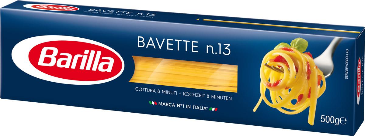 Barilla Bavette баветте паста, 500 г8076800195132Родина Баветте - Лигурия. И как Неаполь считается родоначальником самого известного формата пасты во всем мире - спагетти, так Генуя может гордиться изобретением Баветте - превосходной лигурийской длинной пасты. Традиционно она подается вместе с Песто Дженовезе, а так же отлично сочетается и с овощными или рыбными соусами.Баветте - один из длинных форматов пасты. Благодаря своей уникальной форме, она прекрасно удерживают соус на своей поверхности и позволяют ему раскрыть всю гамму вкусов и ароматов.Уважаемые клиенты! Обращаем ваше внимание на то, что упаковка может иметь несколько видов дизайна. Поставка осуществляется в зависимости от наличия на складе.