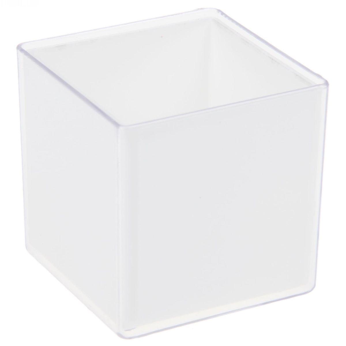 Кашпо JetPlast Мини куб, на магните, цвет: прозрачный, 6 x 6 x 6 смHS.040007Кашпо JetPlast Мини куб предназначено для украшения любого интерьера. Благодаря магнитной ленте, входящей в комплект, вы можете разместить его не только на подоконнике, столе, а также на холодильнике и любой другой металлической поверхности, дополняя привычные вещи новыми дизайнерскими решениями. Кашпо можно использовать не только под цветы, но и как подставку для ручек, карандашей и прочих канцелярских мелочей.Размеры кашпо: 6 х 6 х 6 см.