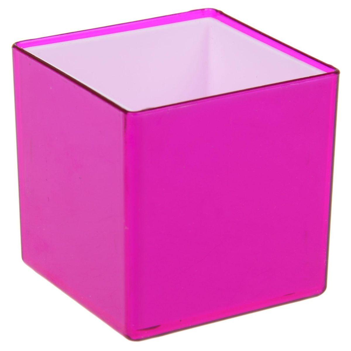 Кашпо JetPlast Мини куб, на магните, цвет: темно-фиолетовый, 6 x 6 x 6 см531-401Кашпо JetPlast Мини куб предназначено для украшения любого интерьера. Благодаря магнитной ленте, входящей в комплект, вы можете разместить его не только на подоконнике, столе или иной поверхности, а также на холодильнике и любой другой металлической поверхности, дополняя привычные вещи новыми дизайнерскими решениями. Кашпо можно использовать не только под цветы, но и как подставку для ручек, карандашей и прочих канцелярских мелочей.Размеры кашпо: 6 х 6 х 6 см.