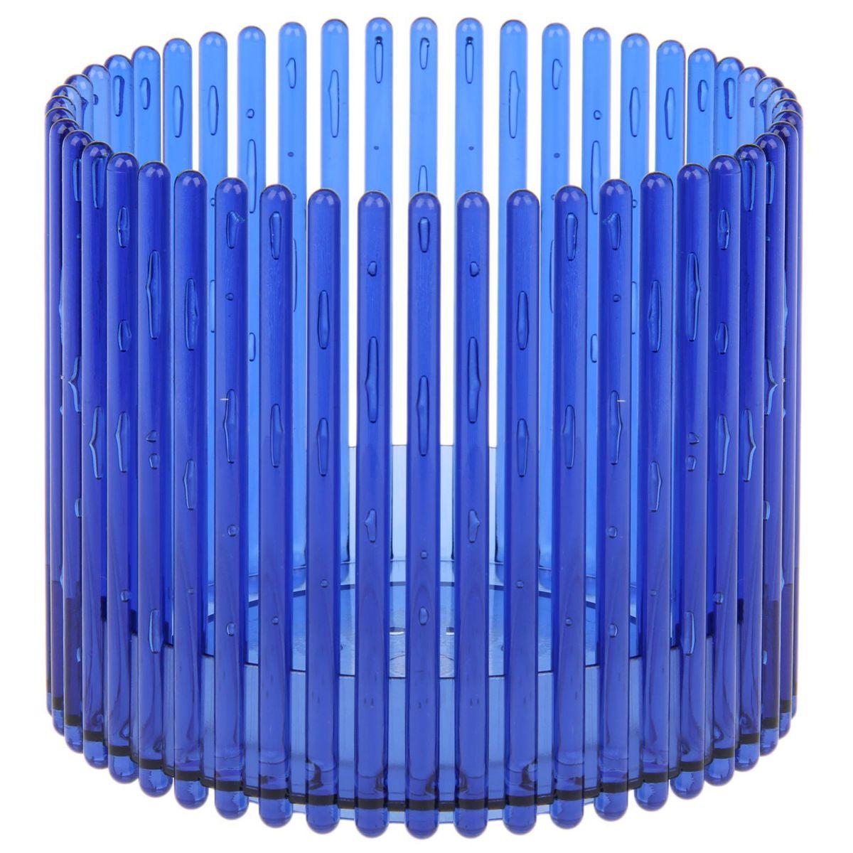 Кашпо JetPlast Шарм, цвет: синий, 14 x 12 см531-102Кашпо Шарм изготовлено из поликарбоната. Изделие имеет уникальную конструкцию: бортик в нижней части кашпо дает возможность создания у корней орхидеи благоприятную влажность, а сквозная конструкция стенок кашпо дает возможность беспрепятственному проникновению света на корни растения и их вентиляцию. Стильный яркий дизайн сделает такое кашпо отличным дополнением интерьера.