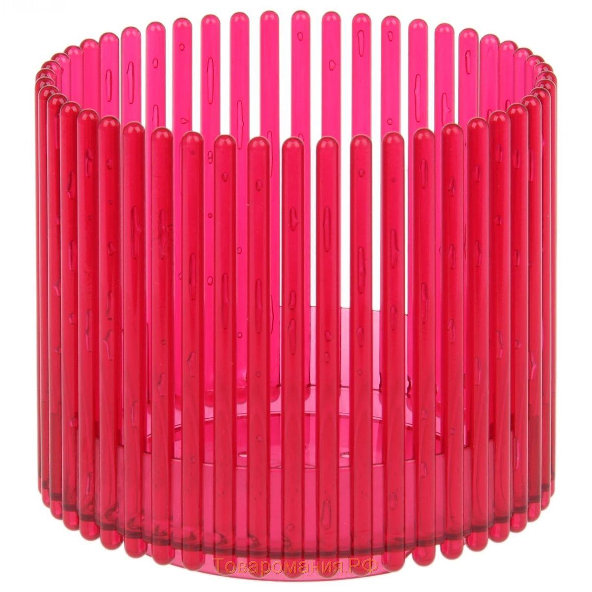 Кашпо JetPlast Шарм, цвет: красный, 14 x 12 см531-102Кашпо Шарм изготовлено из поликарбоната. Изделие имеет уникальную конструкцию: бортик в нижней части кашпо дает возможность создания у корней орхидеи благоприятную влажность, а сквозная конструкция стенок кашпо дает возможность беспрепятственному проникновению света на корни растения и их вентиляцию. Стильный яркий дизайн сделает такое кашпо отличным дополнением интерьера.