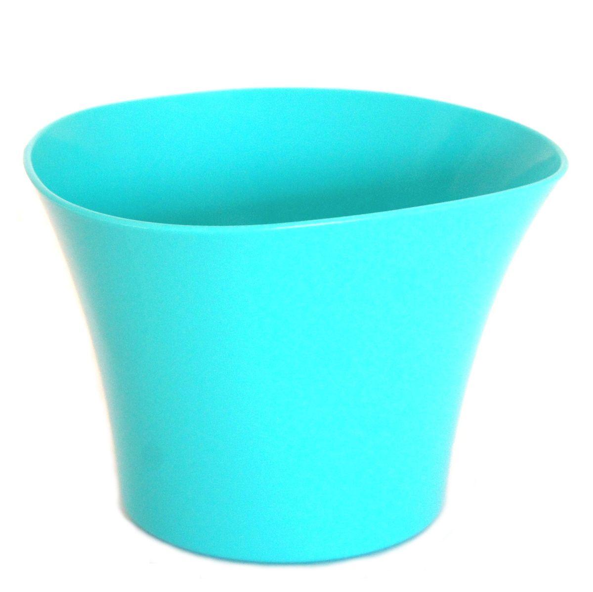 Кашпо JetPlast Волна, цвет: бирюзовый, 600 мл5905907204603Кашпо Волна имеет уникальную форму, сочетающуюся как с классическим, так и с современным дизайном интерьера. Оно изготовлено из прочного полипропилена (пластика) и предназначено для выращивания растений, цветов и трав в домашних условиях. Такое кашпо порадует вас функциональностью, а благодаря лаконичному дизайну впишется в любой интерьер помещения. Объем кашпо: 600 мл.