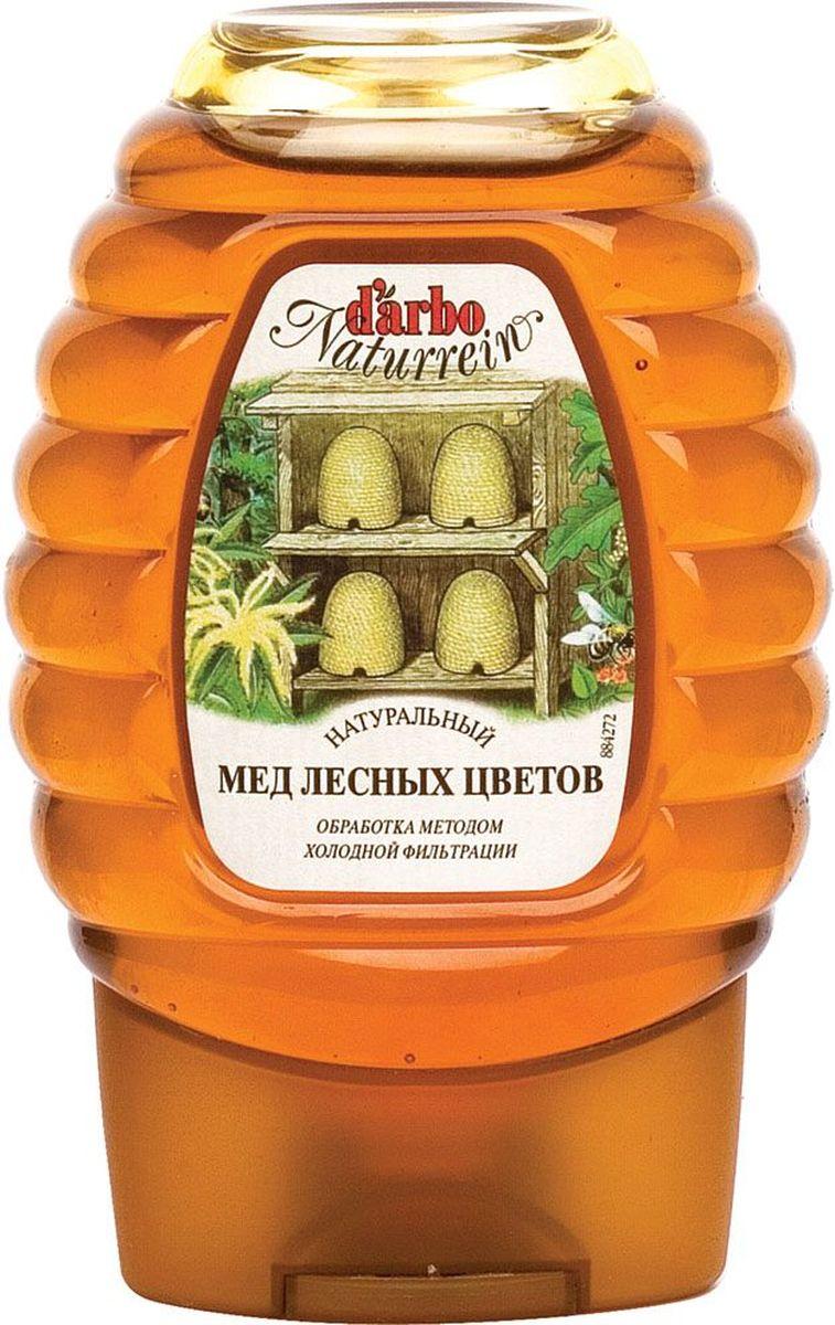 Darbo мед лесных цветов (диспенсер), 300 г0120710Лесноймедимеет уникальные целебные свойства ипревосходные вкусовые качества.Леснымназываютмед, который былполучен изцветоврастений, растущих налесныхполянах.