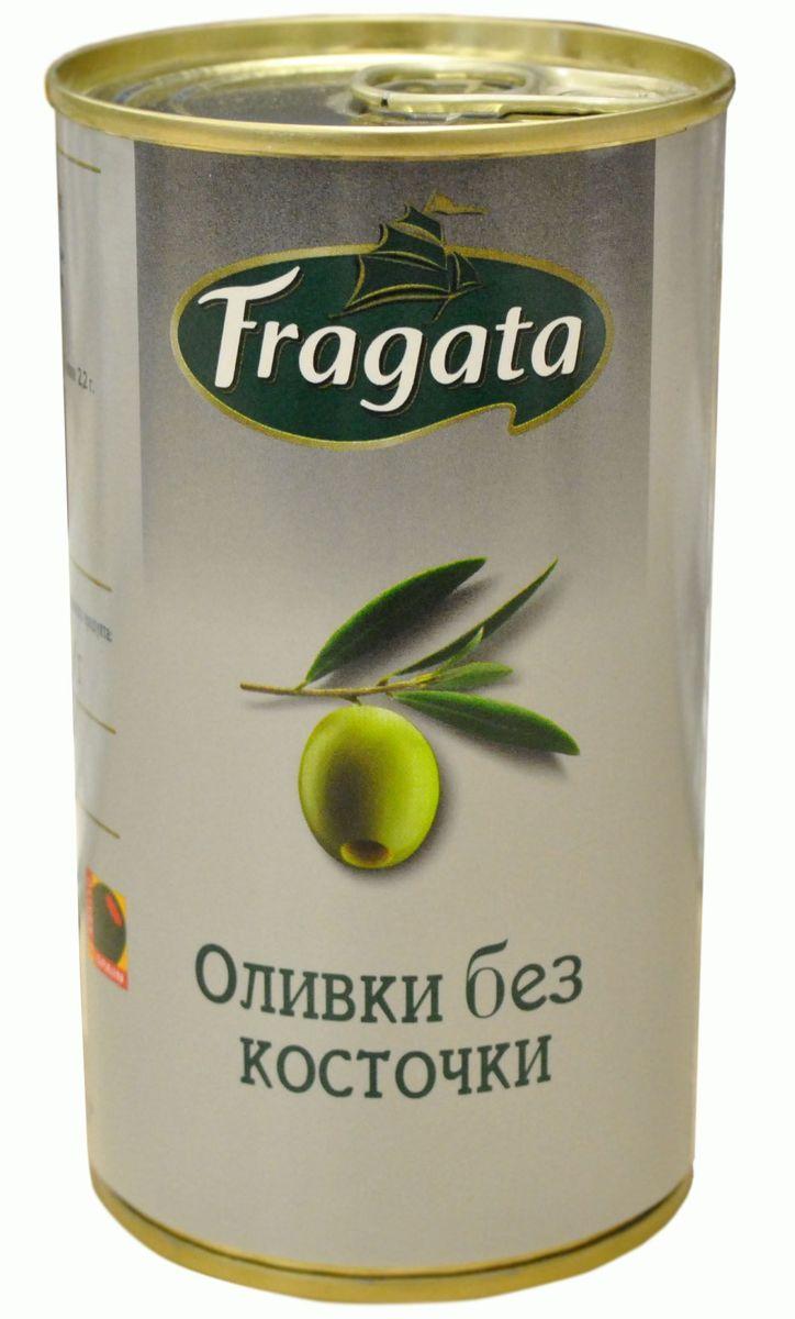 Fragata оливки без косточки, 350 г34111В жестяной банке находятся зеленые отборные оливки, не содержащие косточек.