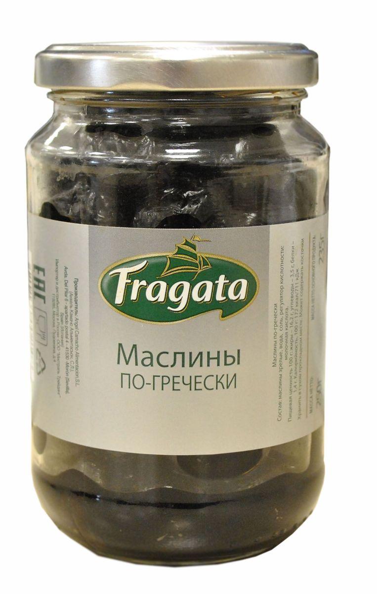 Fragata маслины по-гречески, 250 г1660Маслины популярны по всему миру благодаряполезным веществам и витаминам, содержащимся в них. Их используют вомногих кухнях мира, в салатах, закусках, пицце.