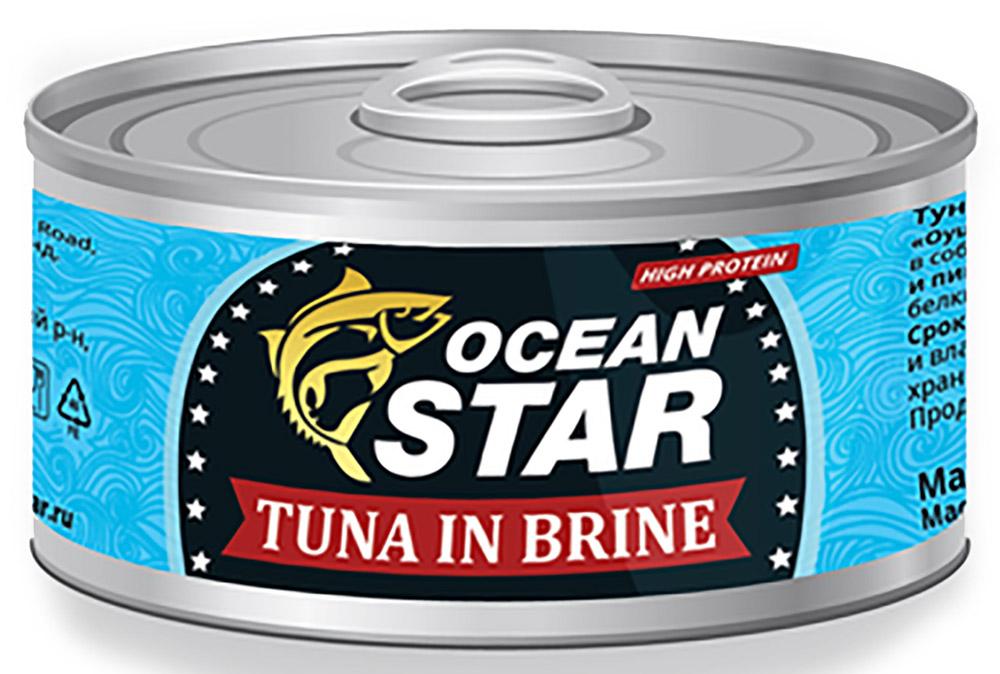 Ocean Star тунец филе в собственном соку, 185 г24100% настоящий тунец.Мы сохранили вкус свежевыловленного тунца, бережно спрятав его в экологичной банке. Открывая баночку Ocean Star, вы можете быть уверены, что внутри настоящий желтоперый тунец, выловленный в акватории Южно-Китайского моря. Вы оцените тунец Ocean Star, который станет достойным дополнением к любому из известных вам блюд. Наш тунец легко усваивается организмом, потому что он вырос в чистых теплых морских водах и сохранен без применения химических добавок. Тунец Ocean Star филе в собственном соку отличается насыщенным, деликатным вкусом подлинного желтоперого тунца.