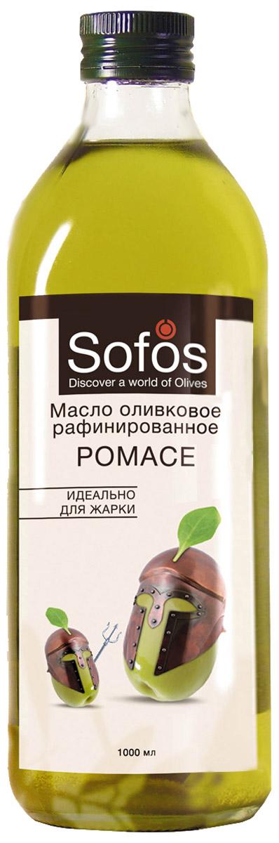 Sofos Pomace масло оливковое рафинированное для жарки, 1 л0120710Масло Sofos Pomace- оптимально для жарки,выпекания и фритюра. Рекомендовано любителям блюд с аппетитной корочкой. Оливковое масло Pomace - продукт, не образующий опасных веществ при жарке: - Специальное рафинированное масло с добавлением Extra Virgin. - Обладает нейтральным вкусом и запахом, содержит полезные элементы.- Стойкое к нагреванию благодаря повышенному содержанию олеиновой и полинасыщенных жирных кислот. - При термообработке продуктов подчёркивает их природный вкус, образуя корочку с хрустом.Sofos Pomace - жарка и выпечка с пользой и ярким вкусом.