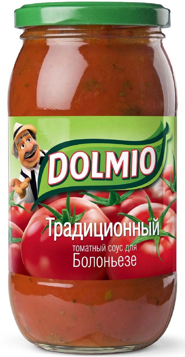 Dolmio Традиционный, томатный соус для Болоньезе, 500 г0120710Спелые томаты и ароматный базилик - сочетание, ставшее классическим в итальянской кухне. А чтобы сделать его насыщенным и многогранным, мы добавили лук и несколько зубчиков чеснока. Попробуй приготовить домашние блюда из мяса и птицы с классическим соусом Dolmio, и твоя кухня станет отправной точкой на пути в Италию.