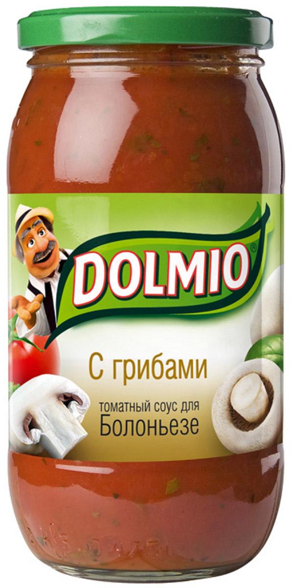 Dolmio с грибами, томатный соус для Болоньезе, 500 г0120710Спелые томаты, грибы и лук – превосходное сочетание, знакомое многим, кто пробовал итальянскую пиццу. А дополняет вкус трио из специй - орегано, базилик и молотый перец. Все, чтобы знакомые блюда теперь звучали по-новому.