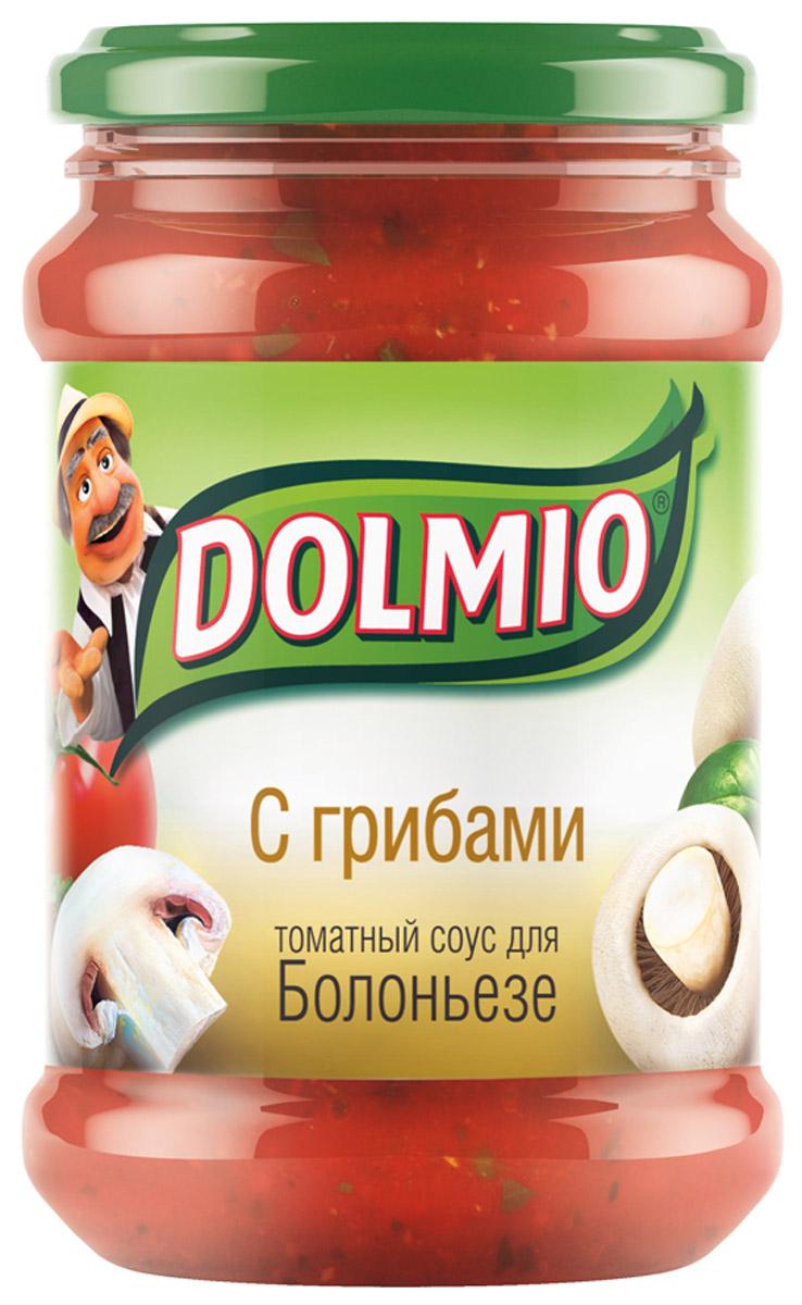 Dolmio с грибами, томатный соус для Болоньезе, 350 г1093Спелые томаты, грибы и лук – превосходное сочетание, знакомое многим, кто пробовал итальянскую пиццу. А дополняет вкус трио из специй - орегано, базилик и молотый перец. Все, чтобы знакомые блюда теперь звучали по-новому.