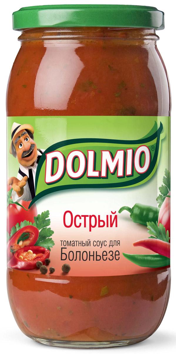 Dolmio Острый томатный соус для Болоньезе, 500 г0120710Хочешь добавить блюдам перчинку - попробуй приготовить блюда домашней кухни с острым соусом Dolmio. Лук, чеснок иперец чили раскроют вкус знакомых блюд сновой стороны, аспелые томаты сорегано ибазиликом добавят итальянский акцент.