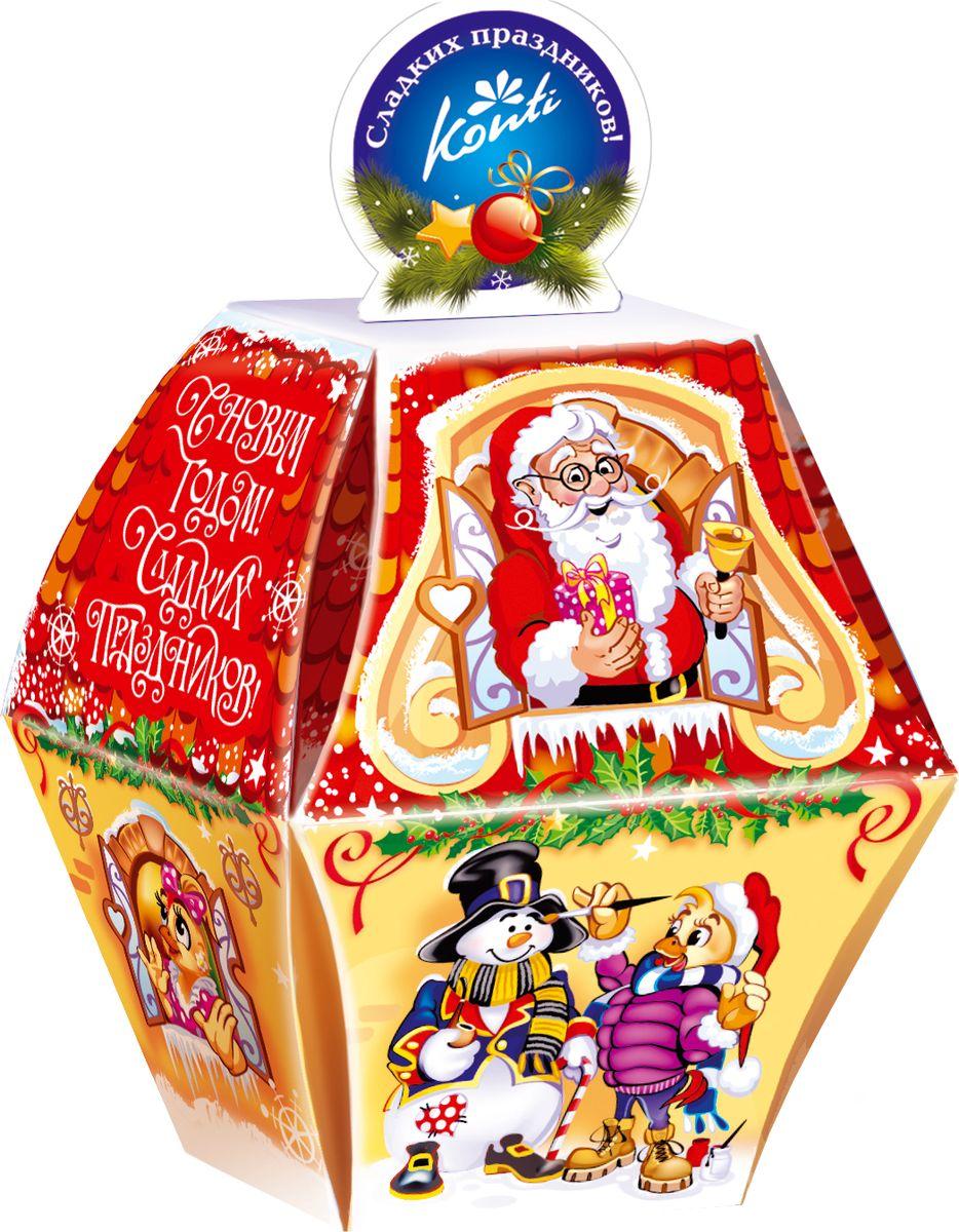 Конти рус Новогодний подарок 2016 Елочная, 130 г0120710Яркий подарок в форме елочного шарика станет прекраснымзнаком внимания к Новому году. А проделав в ручке дырочку,можно подвесить «вкусный шарик» на елку.