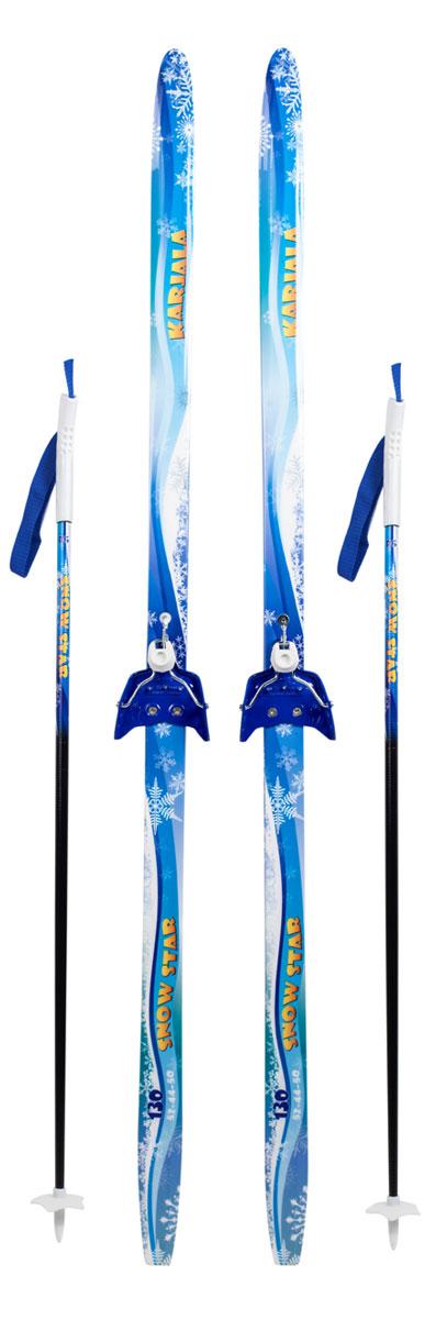 Беговые лыжи Karjala Snowstar, с креплением 75 мм, цвет: синий, рост 130 смS46315Лыжный комплект: беговые лыжи Karjala Snowstar детские, рост 130 см, крепления 75мм, цвет: синий. В комплект входят: - лыжи с установленными креплениями 75мм- палки из 100% стекловолокна с безлопастными пластиковыми наконечникамиЛыжи Karjala Snowstar:- Технология CAP, позволяет увеличить прочность лыжи их долговечность и надежность- Сердечник изготовлен из дерева- Скользящая поверхность - Экструдированый полиэтилен низкого давления ПЭНД, обладающий высокой степенью защиты от царапин и вмятин.Крепления: 75мм, изготовленные из прочного алюминиевого сплаваKarjala (Карелия) – самая известная российская марка беговых лыж и аксессуаров, которая уже более полувека производит спортивный инвентарь. Характеристики:Рост: 120 смГеометрия: 50-50-50Материал: пластик, дерево, металлЦвет: синийКрепления: Karjala 75 ммРазмер упаковки: 140х70х12