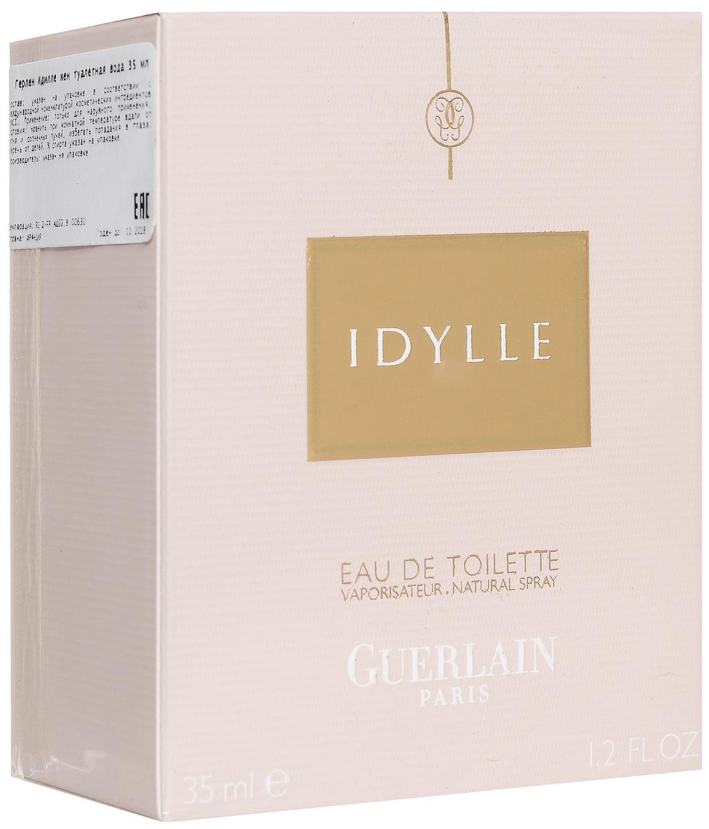 Guerlain Туалетная вода Idylle, женская, 35 мл28032022Guerlain Idylle Eau De Toilette выпускает более легкую и более цветочную версию аромата Idylle, представленную в золотом искрящемся флаконе. За основу аромата парфюмер Тьерри Вассер решил взять излюбленную ноту розы - фирменную карточку Guerlain, желая выбрать нечто особенное и исключительное, чтобы новая версия являлась воплощением самого совершенства!Классификация аромата: свежий, цветочный.Верхние ноты: дамасская роза, ландыш, белая сирень.Ноты сердца:пион, жасмин, оттенки зелени.Ноты шлейфа:мускус, масло иланг-иланга.Ключевые слова:Возвышенный, нежный, романтичный, очаровательный!Туалетная вода - один из самых популярных видов парфюмерной продукции. Туалетная вода содержит 4-10%парфюмерного экстракта. Главные достоинства данного типа продукции заключаются в доступной цене, разнообразии форматов (как правило, 30, 50, 75, 100 мл), удобстве использования (чаще всего - спрей). Идеальна для дневного использования. Товар сертифицирован.