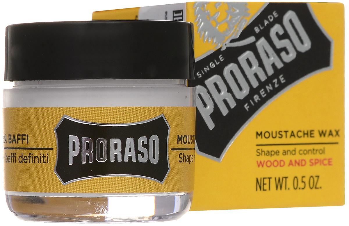 PRORASO Воск для усов Wood and Spice 15 мл15339135_без подаркаВоск для усов: уложите усы, используя мягкий воск, придав им желаемую форму.