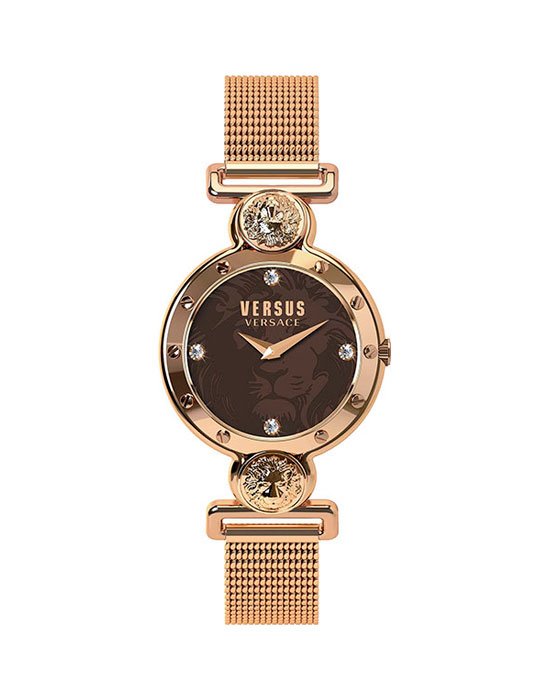 Наручные часы женские Versus Versace, цвет: розовый, коричневый. SOL13 0016BM8434-58AE3 стрелки, механизм кварцевый Citizen_2025, сталь, диаметр циферблата 38 мм, браслет, застежка из стали, стекло минеральное, водонепроницаемость - 3 АТМ
