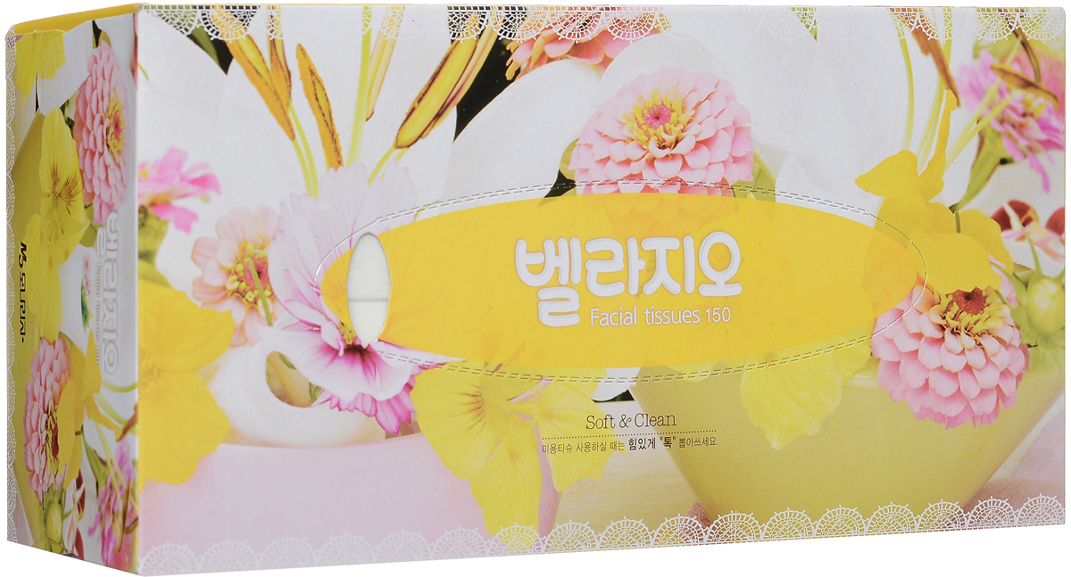 Monalisa Салфетки для лица Bellagio, цвет: желтый, 150 шт