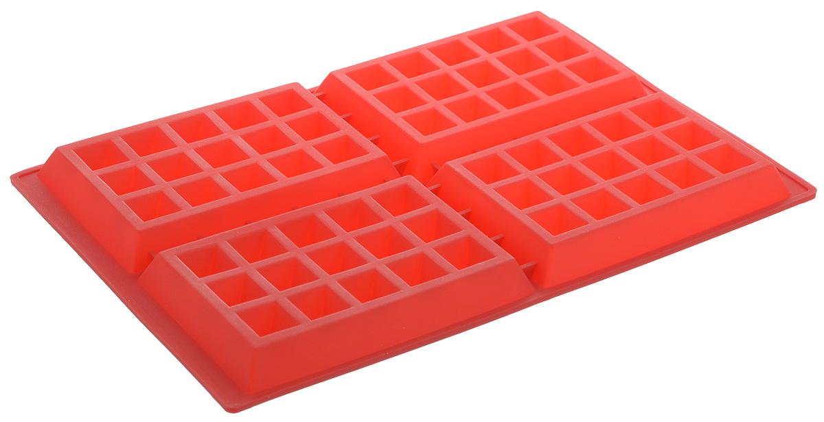 Форма для выпечки Bradex Венские вафли, силиконовая, 4 ячейкиFS-91909Форма Bradex Венские вафли, выполненная из силикона, будет отличным выбором для всех любителей домашней выпечки. Форма имеет 4 ячейки. Силиконовые формы для выпечки имеют множество преимуществ по сравнению с традиционными металлическими формами и противнями. Нет необходимости смазывать форму маслом. Форма быстро нагревается, равномерно пропекает, не допускает подгорания выпечки с краев или снизу. Вынимать продукты из формы очень легко. Слегка выверните края формы или оттяните в сторону, и ваша выпечка легко выскользнет из формы. Материал устойчив к фруктовым кислотам, не ржавеет, на нем не образуются пятна. Форма может быть использована в духовках и микроволновых печах (выдерживает температуру от -40°С до +220°С).Размер ячейки: 9 х 14 х 1,5 см.