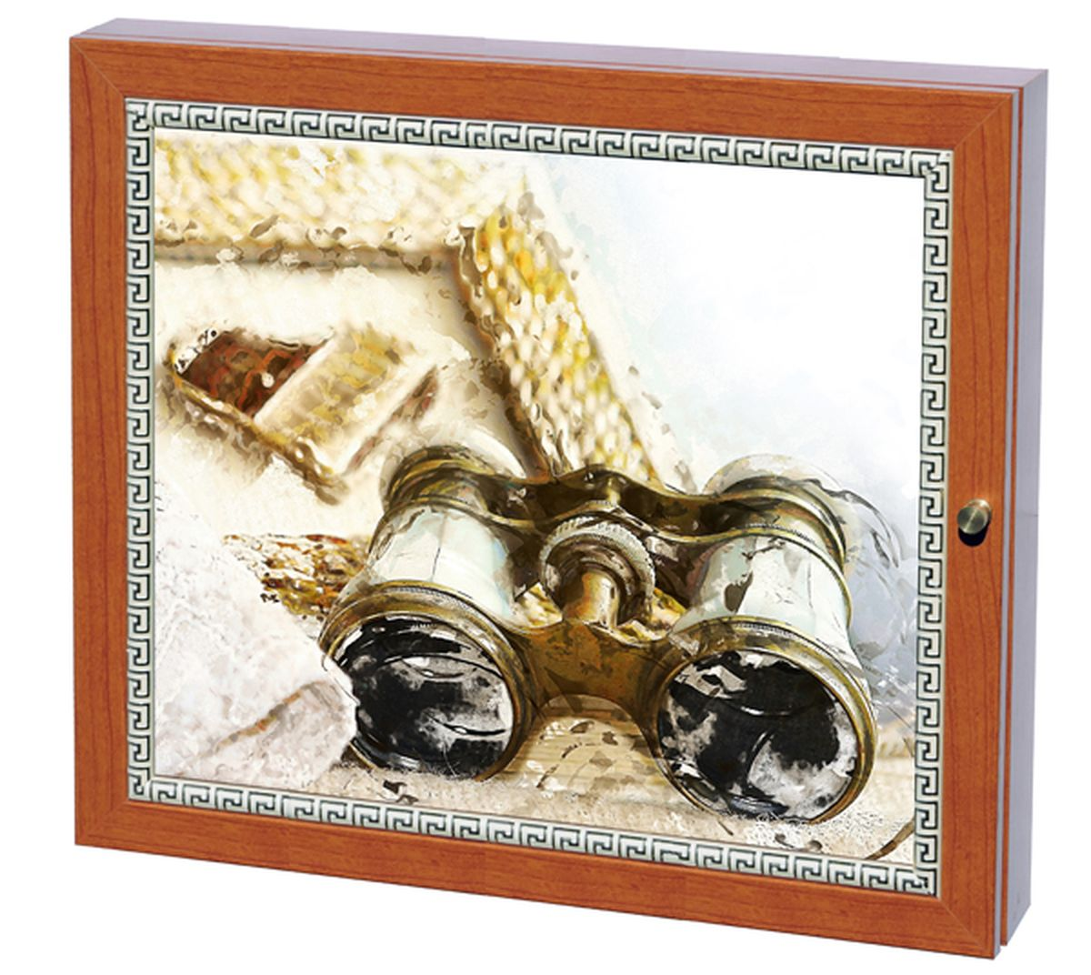 Вешалка-ключница Milarte Фэй, 25 х 30 х 5,5 см. KFV-11601254 009318Вешалка-ключница Milarte Фэй, выполненная из МДФ, украсит интерьер помещения, а также поможет создать атмосферу уюта. Ключница, декорированная оригинальным изображением, станет не только украшением вашего дома, но и послужит функционально. Она представляет собой ящичек, внутри которого предусмотрено 9 металлических крючков для ключей в два ряда. Дверца фиксируется к корпусу на крючок. Вешалка-ключница подвешивается на стену, крепежные элементы входят в комплект.Размер изображения: 24 х 19 см.