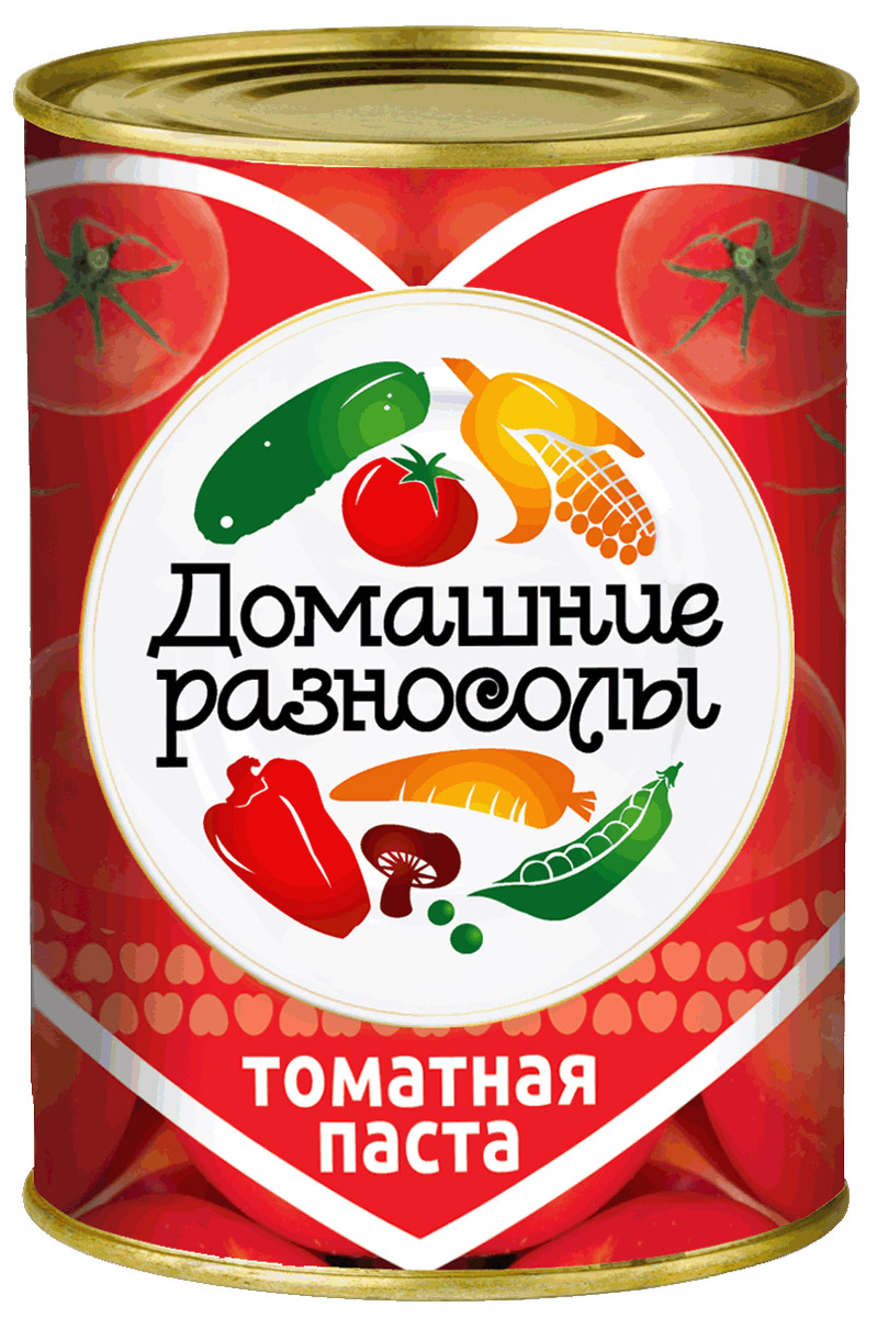 Домашние разносолы томатная паста, 380 г