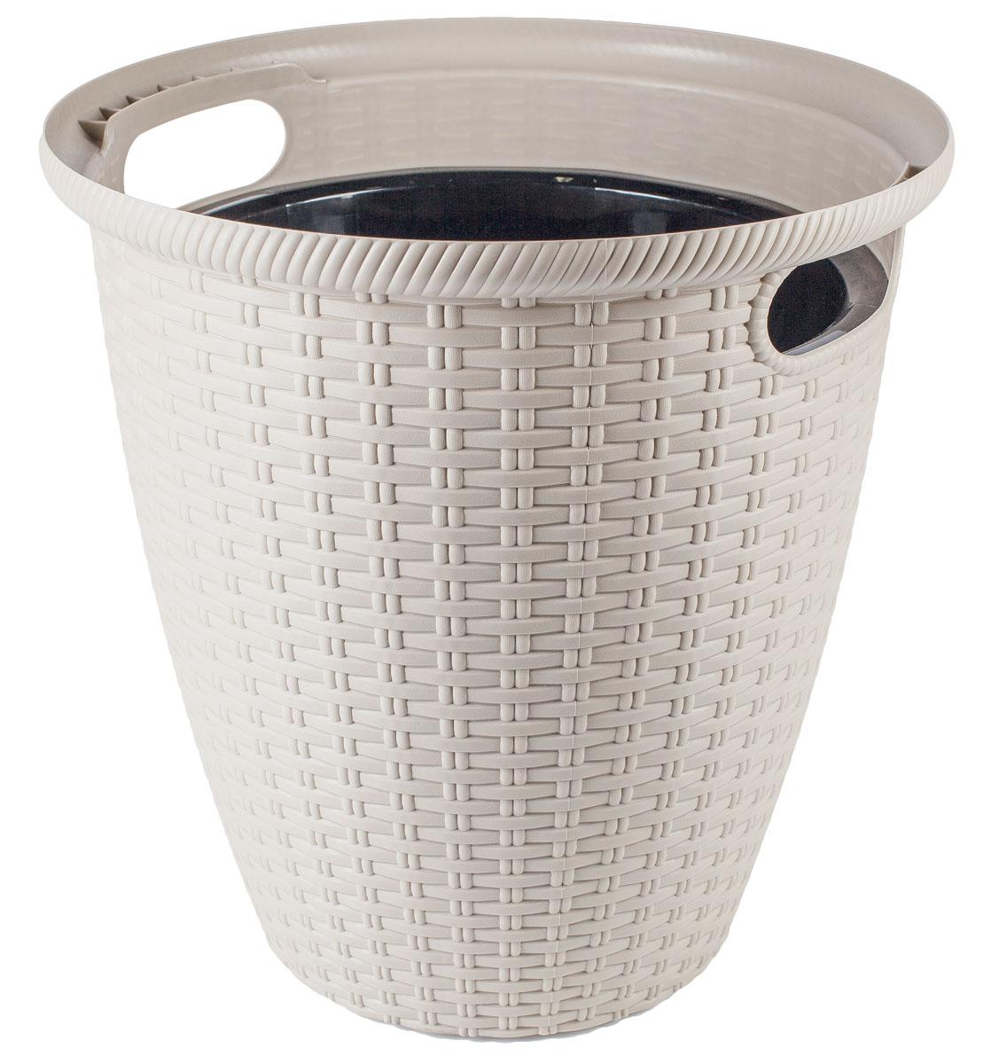 Кашпо InGreen Ротанг, напольное, цвет: слоновая кость, диаметр 32,8 см531-402Кашпо InGreen Ротанг изготовлено из высококачественного пластика с плетеной текстурой. Такое кашпо прекрасно подойдет для выращивания растений и цветов в домашних условиях. Лаконичный дизайн впишется в интерьер любого помещения. Размер кашпо: 32,8 х 32,8 х 33 см.