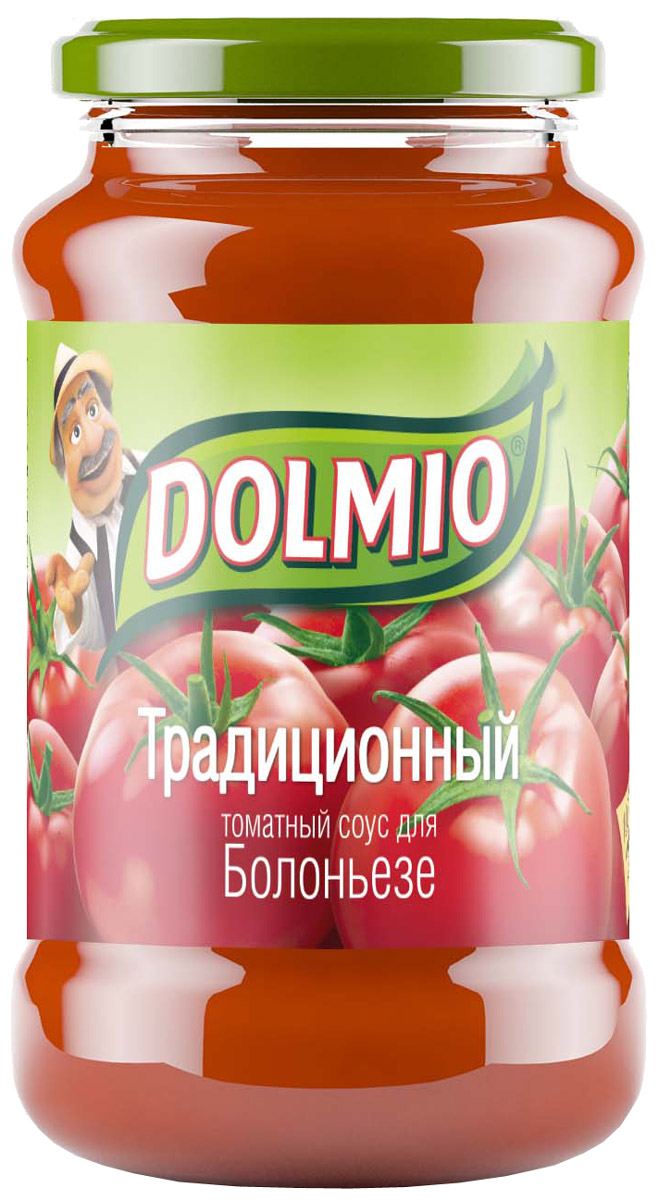 Dolmio Традиционный, томатный соус для Болоньезе, 350 г0120710Спелые томаты и ароматный базилик - сочетание, ставшее классическим в итальянской кухне. А чтобы сделать его насыщенным и многогранным, мы добавили лук и несколько зубчиков чеснока. Попробуй приготовить домашние блюда из мяса и птицы с классическим соусом Dolmio, и твоя кухня станет отправной точкой на пути в Италию.