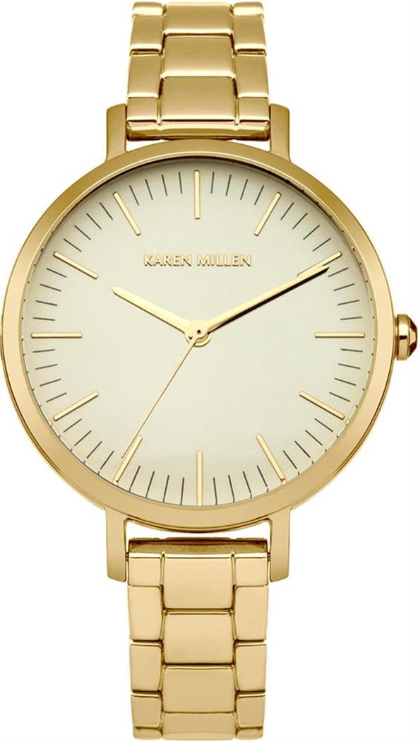 Zakazat.ru Наручные часы женские Karen Millen, цвет: золотой. KM126GM