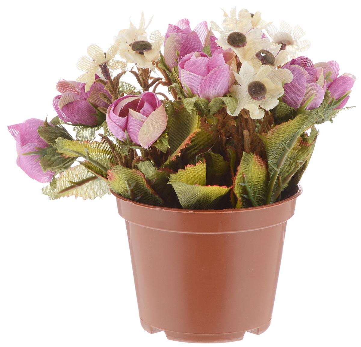 Растение искусственное для мини-сада Bloom`its, цвет: фиолетовый, зеленый, коричневый, высота 13 смMB860Искусственное растение Bloomits поможет создать свой собственный мини-сад. Заниматься ландшафтным дизайном и декором теперь можно, даже если у вас нет своего загородного дома, причем не выходя из дома. Устройте себе удовольствие садовода, собирая миниатюрные фигурки и составляя из них различные композиции. Объедините миниатюрные изделия в емкости (керамический горшок, корзина, деревянный ящик или стеклянная посуда) и добавьте мини-растения. Это не только поможет увлекательно провести время, раскрывая ваше воображение и фантазию, результат работы станет стильным и необычным украшением интерьера.