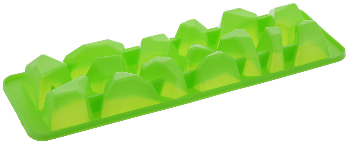 Форма для льда Paterra Айсберг, цвет: зеленый, 15 ячеек402-461_зеленыйФорма для льда Paterra Айсберг изготовлена из силикона. Ячейки формочки имеют оригинальный дизайн.Силикон - уникальный материал, недавно вошедший в обиход современной кулинарии и открывающий новые перспективы для творчества. Изделия из силикона характеризуются особой термостойкостью (выдерживают широчайший температурный диапазон от -40°С до +250°С), повышенной прочностью, эластичностью, инертностью к запахам. Формы из силикона идеальны для приготовления выпечки, льда, желе и многого другого.