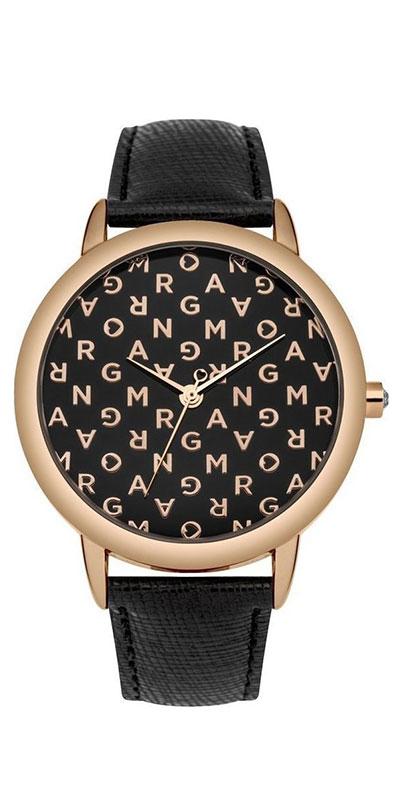 Наручные часы женские Morgan, цвет: черный. M1258BRGBM8241-01EE3-стрелочный механизм PC21; IP Rose Gold-покрытие; Размер корпуса 31 мм; Минеральное стекло; Глянцевый черный циферблат с буквами цвета розового золота; Украшены кристаллами; Черный кожаный ремешок с сафьяновой обработкой; Водозащита 3 ATM