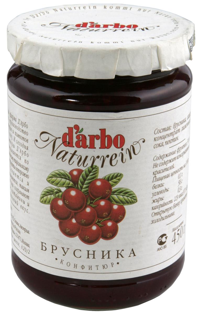 Darbo конфитюр брусника, 450 г0120710Не содержит консервантов и красителей.В 1879 году Рудольф Дарбо основал предприятие, которое стало одним из самых успешных в Австрии - A. Darbo AG в Тироле.В 1997 году ему было присуждено звание лучшей Тирольской торговой марки.Конфитюры DArbo экспортируются более чем в 40 стран мира.По всему миру брэнд DArbo Naturrein гарантирует высокое качество конфитюров, меда и компотов.Для DArbo Naturrein используются только свежие фрукты и ягоды из самых лучших регионов мира.Компания покупает розовые абрикосы в Венгрии, киви в Новой Зеландии, черную вишню в Швейцарии, бузину в Сирии и клюкву в Швеции.Многолетний опыт и связи среди компаний, торгующих фруктами, позволяют DArbo стоять в первых рядах при покупке высококачественных фруктов.