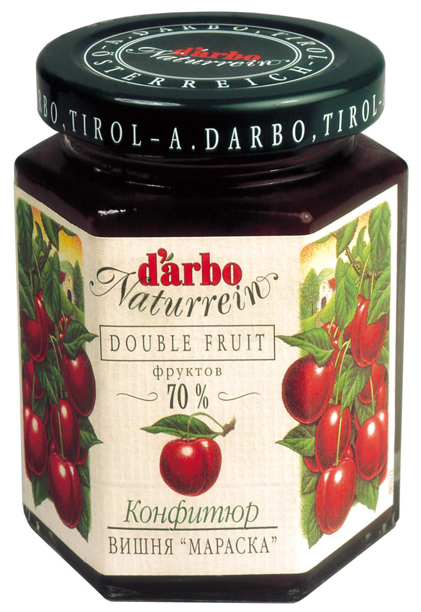 Darbo конфитюр вишня мараска, 200 г0120710Не содержит консервантов и красителей.В 1879 году Рудольф Дарбо основал предприятие, которое стало одним из самых успешных в Австрии - A. Darbo AG в Тироле.В 1997 году ему было присуждено звание лучшей Тирольской торговой марки.Конфитюры DArbo экспортируются более чем в 40 стран мира.По всему миру брэнд DArbo Naturrein гарантирует высокое качество конфитюров, меда и компотов.Для DArbo Naturrein используются только свежие фрукты и ягоды из самых лучших регионов мира.Компания покупает розовые абрикосы в Венгрии, киви в Новой Зеландии, черную вишню в Швейцарии, бузину в Сирии и клюкву в Швеции.Многолетний опыт и связи среди компаний, торгующих фруктами, позволяют DArbo стоять в первых рядах при покупке высококачественных фруктов.