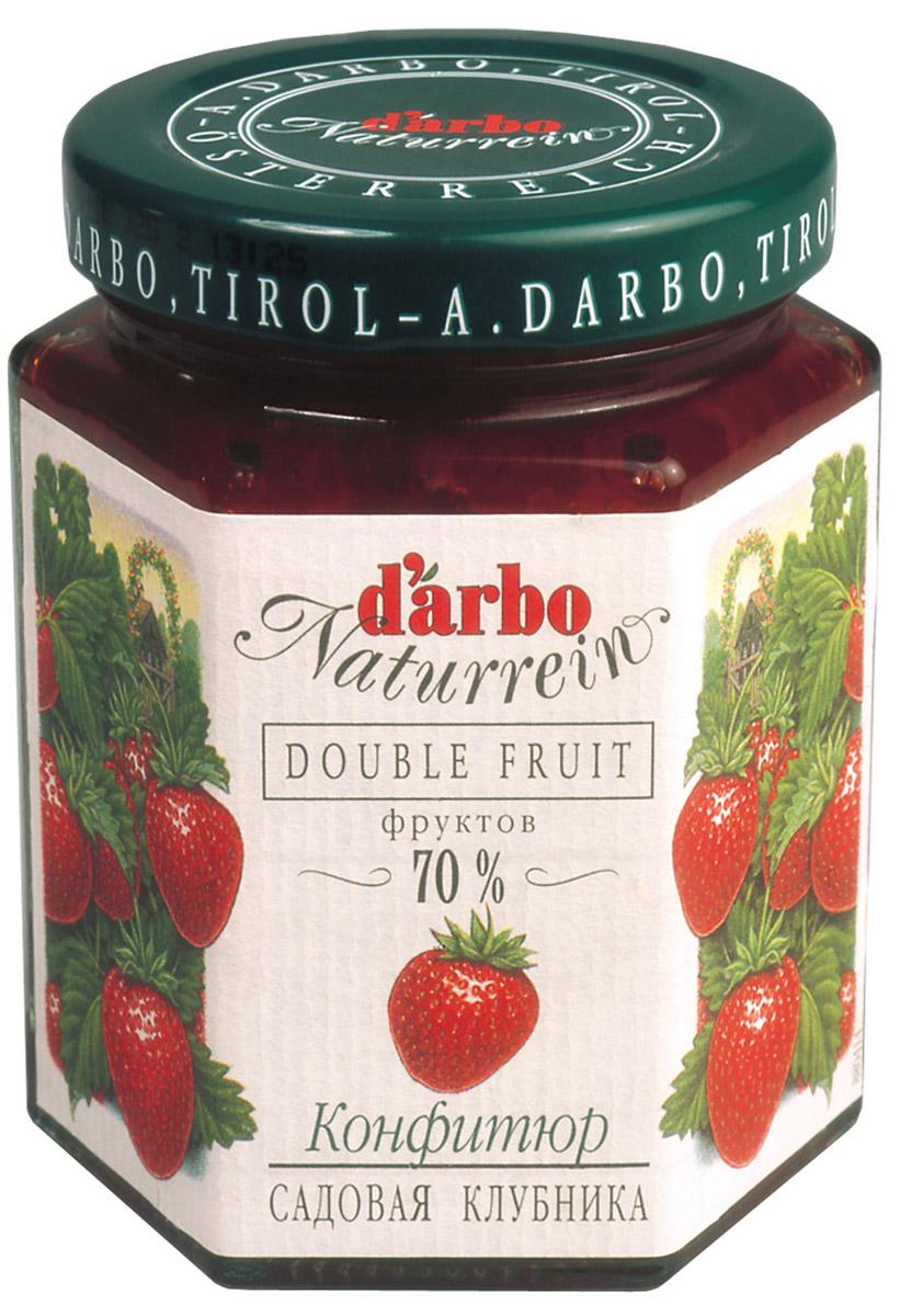 Darbo конфитюр садовая клубника, 200 г0120710Не содержит консервантов и красителей.В 1879 году Рудольф Дарбо основал предприятие, которое стало одним из самых успешных в Австрии - A. Darbo AG в Тироле.В 1997 году ему было присуждено звание лучшей Тирольской торговой марки.Конфитюры DArbo экспортируются более чем в 40 стран мира.По всему миру брэнд DArbo Naturrein гарантирует высокое качество конфитюров, меда и компотов.Для DArbo Naturrein используются только свежие фрукты и ягоды из самых лучших регионов мира.Компания покупает розовые абрикосы в Венгрии, киви в Новой Зеландии, черную вишню в Швейцарии, бузину в Сирии и клюкву в Швеции.Многолетний опыт и связи среди компаний, торгующих фруктами, позволяют DArbo стоять в первых рядах при покупке высококачественных фруктов.