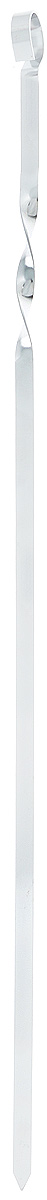 Шампур плоский ПИКНИЧОК, длина 60 см4872Плоский шампур ПИКНИЧОК, изготовленный из высококачественной нержавеющей стали, предназначен для приготовления пищи из мяса, рыбы, птицы, овощей на открытом воздухе. Ручка-винт фиксирует шампур на мангале.Толщина шампура: 1,5 мм.Ширина шампура: 1 см.