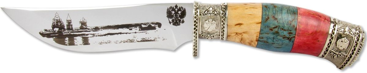 Нож Ножемир  Слава России. Кижи , кованая сталь, с ножнами, общая длина 26,5 см - Ножи и мультитулы