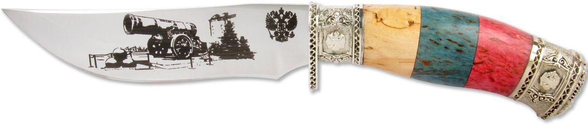 Нож Ножемир  Слава России. Царь-пушка , кованая сталь, с ножнами, общая длина 26,5 см - Ножи и мультитулы