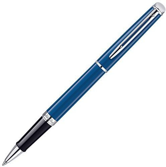 Waterman Ручка роллер Hemisphere Blue CT черная корпус синий -  Ручки
