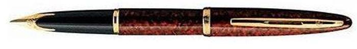 Waterman Ручка перьевая Carene Marine Amber GT синяя корпус коричневыйWAT-S0700860Материал корпуса: ЛатуньПокрытие корпуса: ЛакМатериал отделки деталей корпуса: Позолота 23КПеро: Золото 18К Способ подачи стержня: С колпачкомВложение: Конвертер + упаковка картриджей