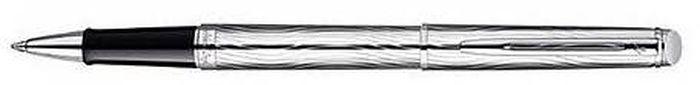 Waterman Ручка роллер Hemisphere Deluxe Metal CT черная корпус серебро -  Ручки