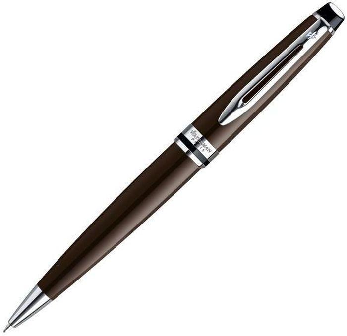 Waterman Ручка шариковая Expert Deep Brown CT синяя корпус коричневый -  Ручки