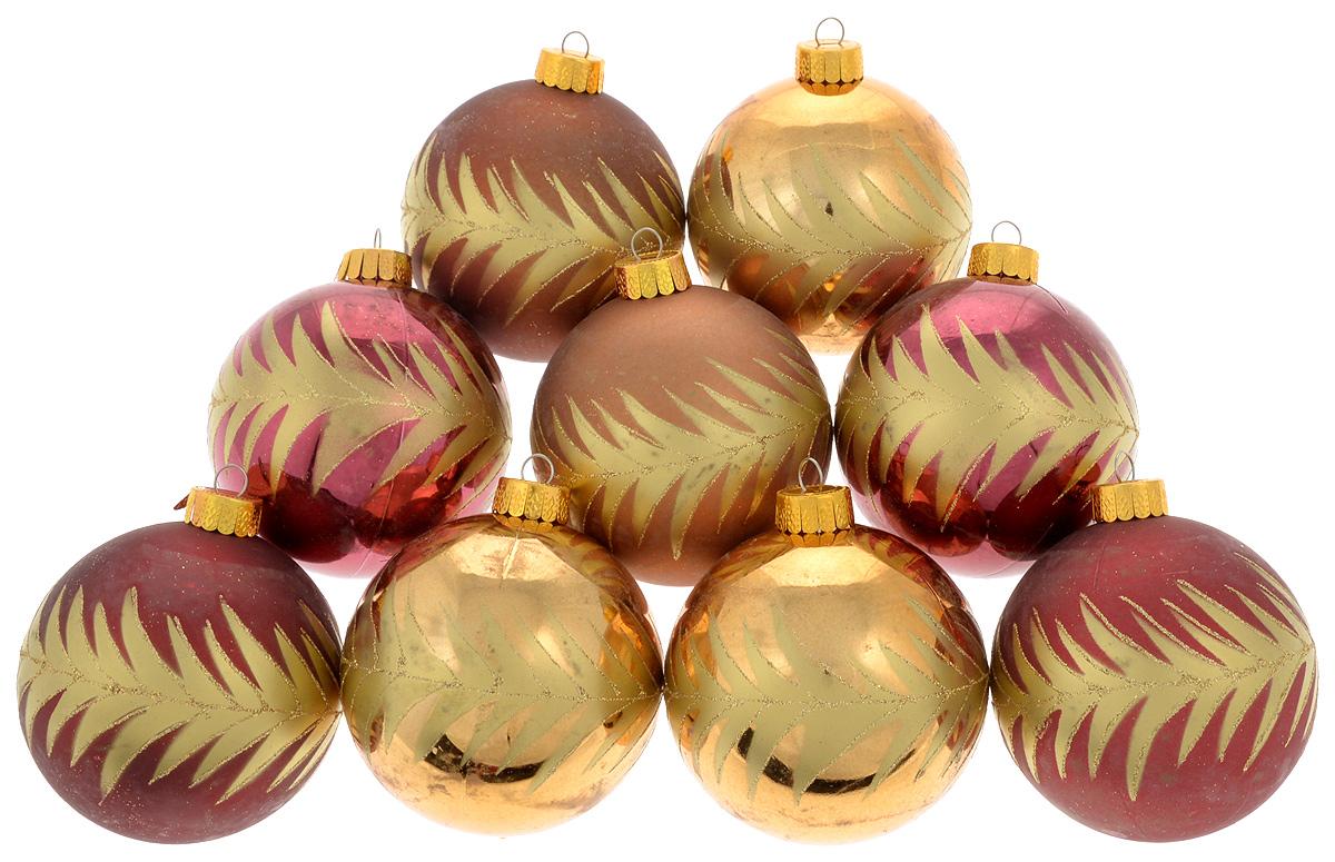 Набор новогодних подвесных украшений Christmas Time, 9 шт09840-20.000.00Набор подвесных украшений Christmas Time прекрасно подойдет для праздничного декора новогодней ели. Набор состоит из 9 украшений разных цветов в виде шаров. Изделия выполнены из пластика и декорированы блестками. Для удобного размещения на елке для каждого украшения предусмотрено ушко для петельки. Елочная игрушка - символ Нового года. Она несет в себе волшебство и красоту праздника. Создайте в своем доме атмосферу веселья и радости, украшая новогоднюю елку нарядными игрушками, которые будут из года в год накапливать теплоту воспоминаний. Откройте для себя удивительный мир сказок и грез. Почувствуйте волшебные минуты ожидания праздника, создайте новогоднее настроение вашим дорогим и близким.Диаметр украшения: 8 см.