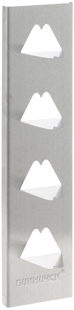 Подставка для печеного картофеля ПИКНИЧОК, с антипригарным покрытием, 39,5 х 9 х 5 см.FS-91909Подставка ПИКНИЧОК, выполненная из пищевой стали, предназначена для приготовления печеного картофеля. Подставка имеет антипригарное покрытие, поэтому с нее легко удаляются остатки пищи. Изделие состоит из четырех заостренных зубцов, на которые легко насаживаются целые клубни. Подставка для приготовления печеного картофеля имеет уникальную конструкцию, которая позволяет запекать картофель без закапывания его в золе. Достаточно установить подставку на жаровне или углях, и сталь передаст полученное тепло внутрь картофеля.Размеры подставки: 39,5 х 9 х 5 см.