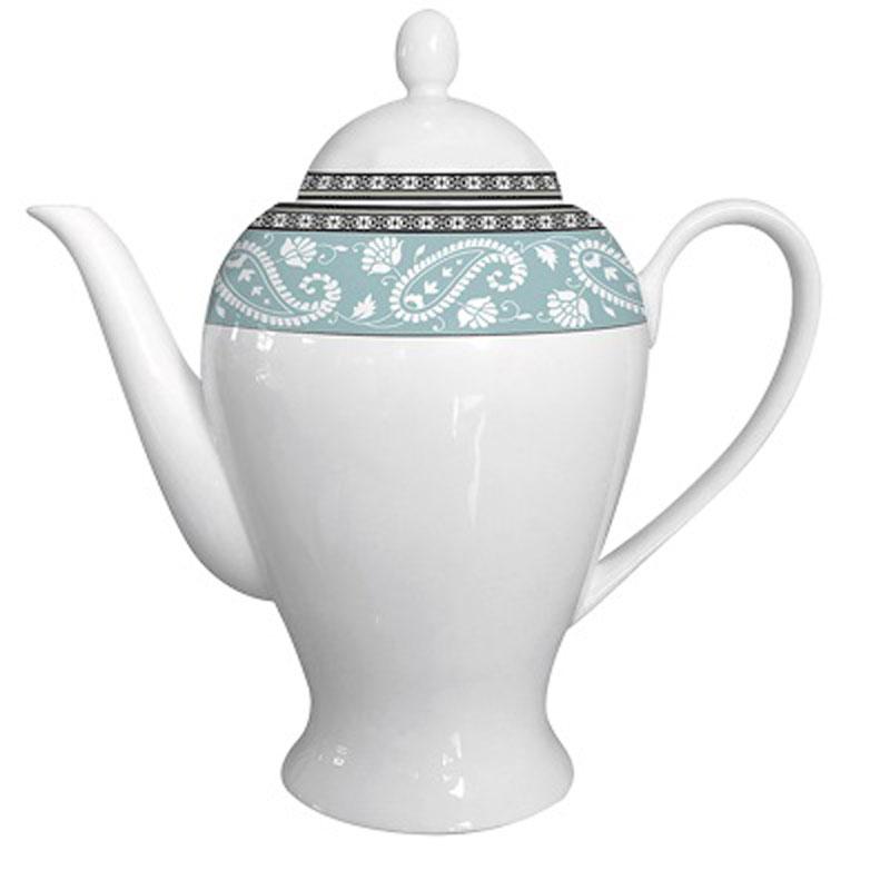 Чайник заварочный Esprado Arista Blue, 920 мл115510Чайник заварочный Esprado Arista Blue изготовлен из высококачественного костяного фарфора с глазурованным покрытием, которое обеспечивает легкую очистку. Изделие прекрасно подходит для заваривания вкусного и ароматного чая, а также травяных настоев. Оригинальный дизайн сделает чайник настоящим украшением стола. Он удобен в использовании и понравится каждому.