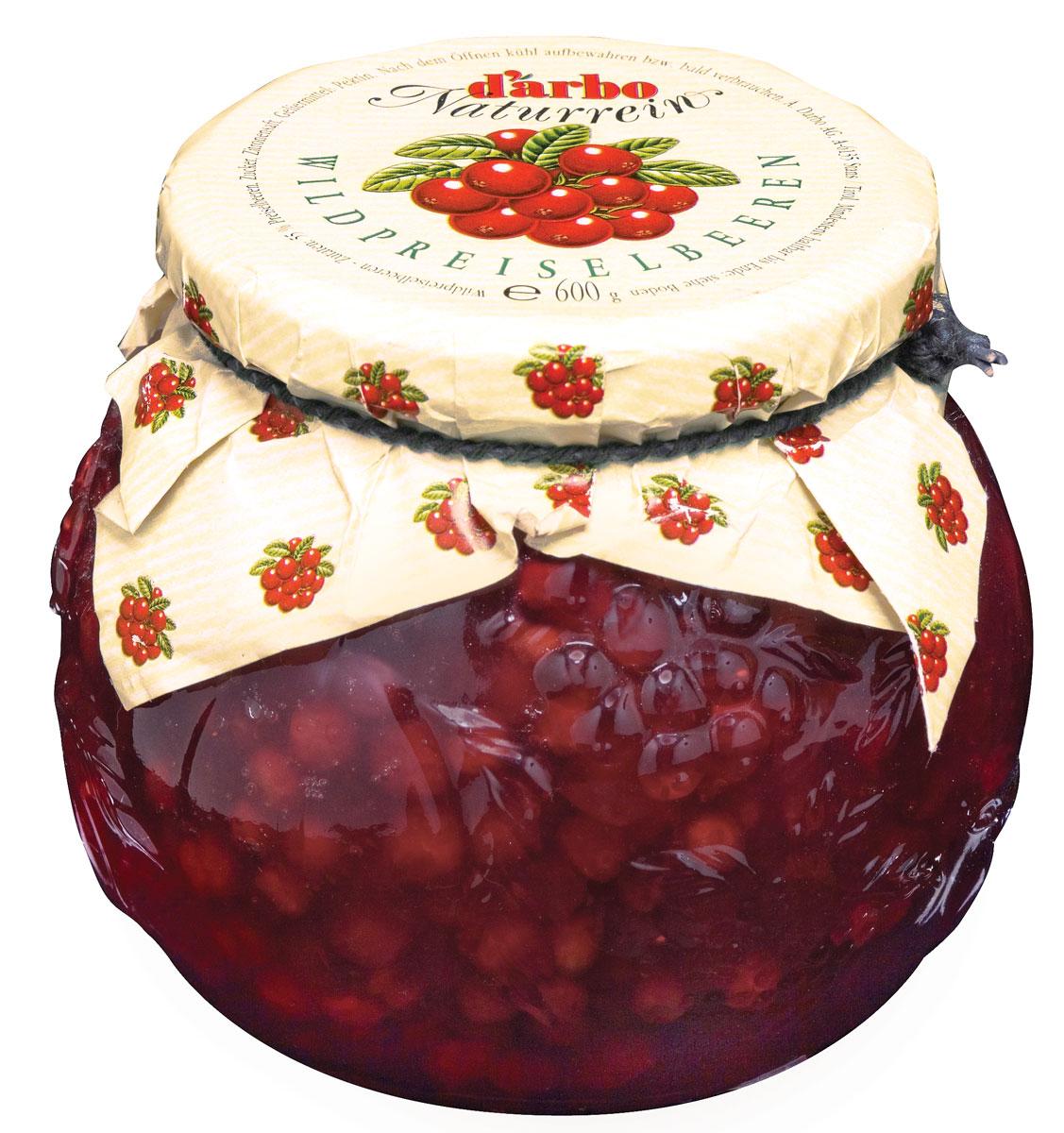 Darbo соус дикая брусника, 600 г22902Семейная фирма ДАрбо начала производство конфитюров и компотов в 1879году. Для приготовления соуса используются отборные ягоды дикойбрусники, которые поспевают в течение лета под солнцем Северной Европы.Изысканный кисло-сладкий вкус прекрасно дополнит как блюда из мяса, индейки, свинины, так и оладьи, блины или просто мороженое.