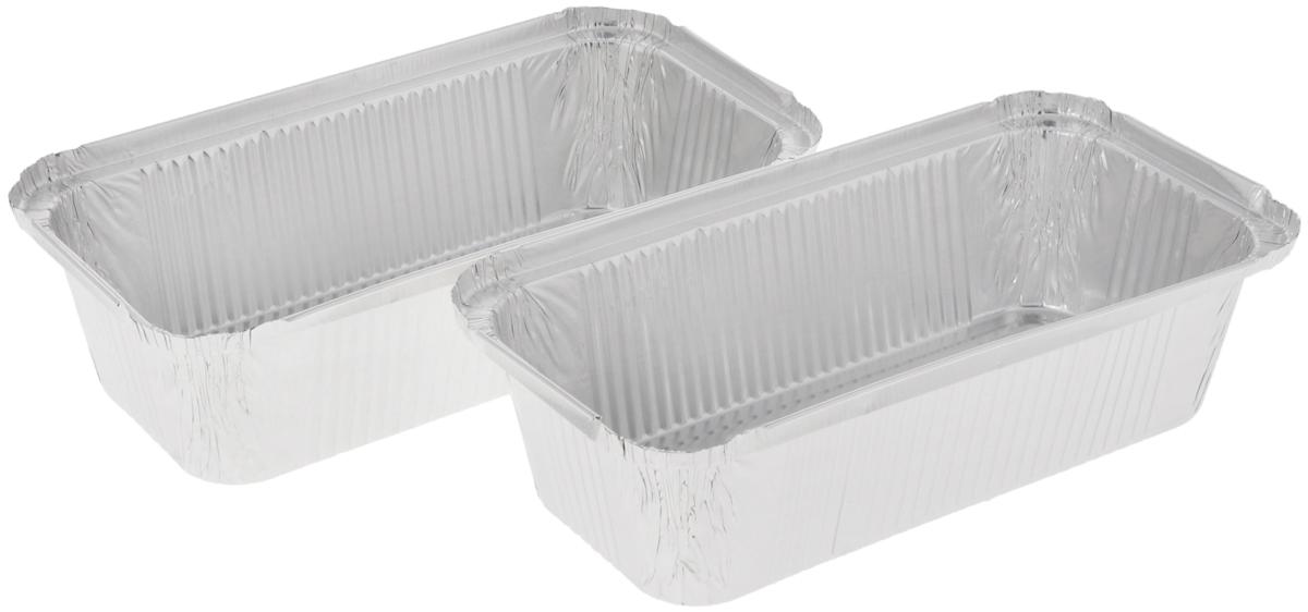 Форма для выпечки Paterra, прямоугольная, 22 х 11 х 6 см, 2 шт94672Формы для выпечки Paterra изготовлены из алюминия. Пища в таких формах не пригорает и не прилипает к стенкам, готовое блюдо легко вынимается. Изделия прекрасно подойдут для выпечки и запекания, а также для замораживания. Такие формы станут полезным приобретением для вашей кухни. Формы выдерживают любые температурные режимы духовых шкафов. Внутренний размер формы: 22 х 11 см. Высота стенки: 6 см.